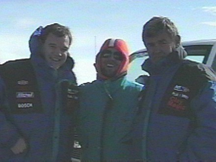 Dave on Pikes Peak (Brrrr) with Als Unser